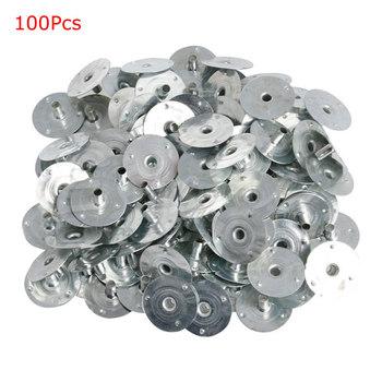 100 200Pcs świeca knot Metal Sustainer Wick Tabs srebrny do odlewania świec prezent tanie i dobre opinie