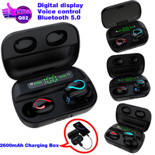 Q82 Bluetooth 5.0 Earphone Digital Display Mini Wireless Stereo Gaming Sport Headset TWS Ha