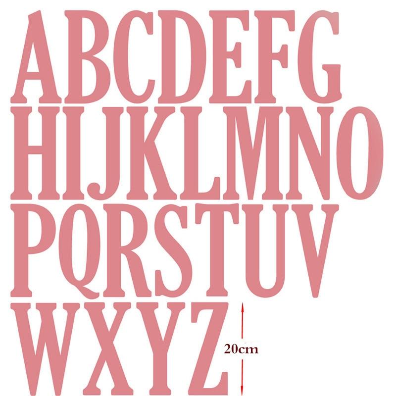 20 cm/8 pouces grand grand Alphabet lettres métal coupe Dies pour Scrapbooking cartes artisanat nouveau 2019