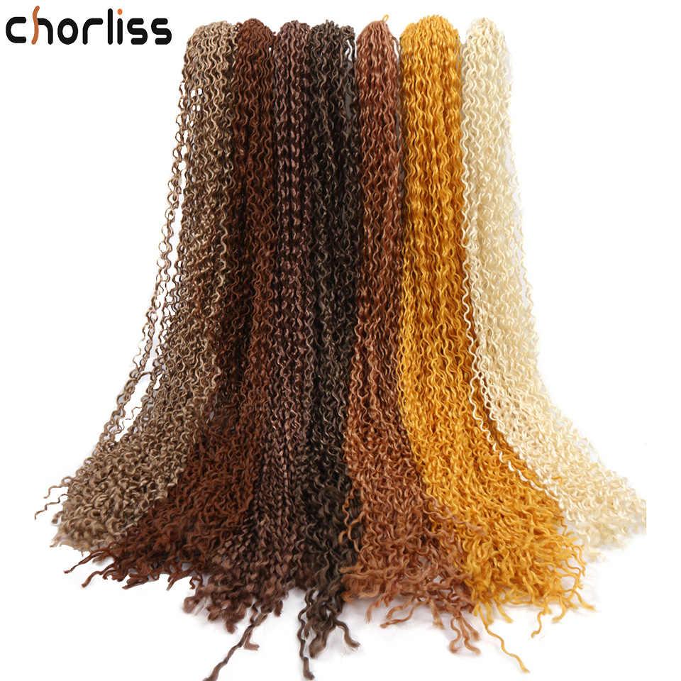Chorliss długie kręcone szydełkowe warkoczyki 24 ''pojedyncze Zizi syntetyczne perwersyjne Twist warkocz Box warkocze włosy faux locs dla kobiet