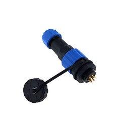 1 pçs sp16 impermeável porca traseira conector 2/3/4/5/6/7/9 pinos ip68 cabo de alimentação conector macho plugue e tomada fêmea