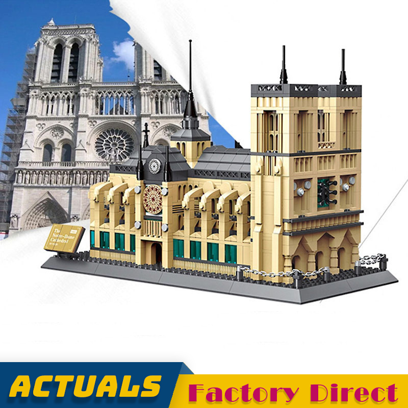 Cathedrale Notre Dame De Paris Building Blocks Lepinbrick Architecture Cultural Heritage Famous Church Symbol Construction BrickBlocks   -