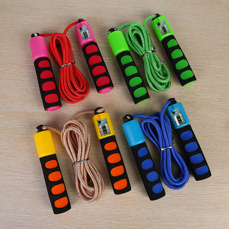 New Style Braided Rope Count Jump Rope Exquisite Anti-slip Sponge Parcel Jump Rope The Academic Test For The Junior High School