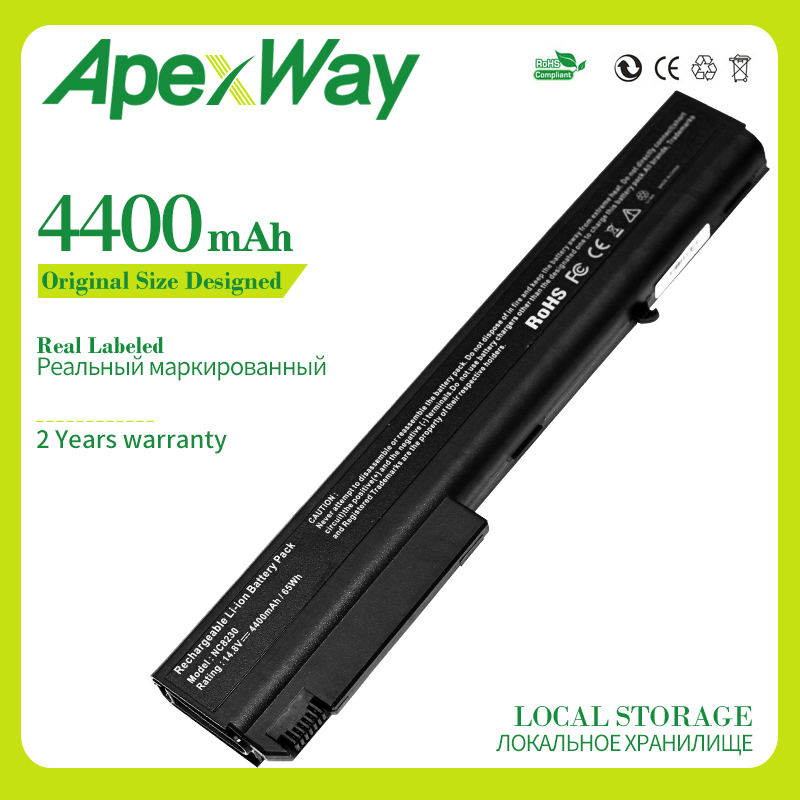Apexway 4400mAh Laptop Battery For HP Compaq nc8430 nw8200 nw8240 nw8440 nw9440 nx7300 nx7400 nx8200 nx8220 nx8420 nx9420