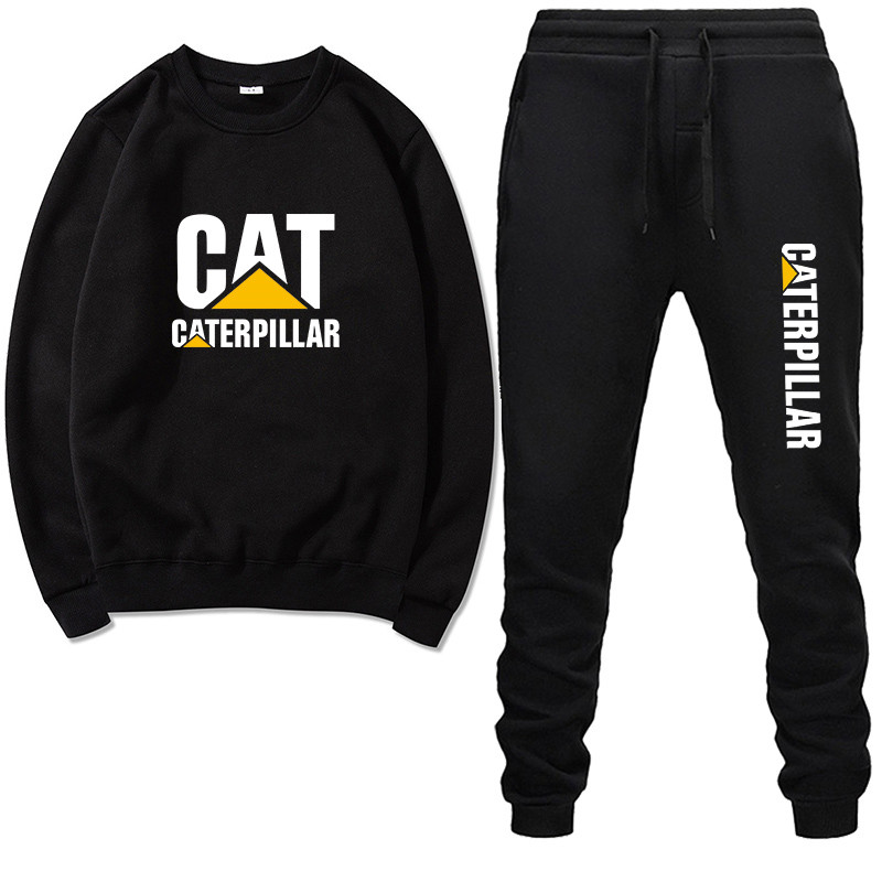 Men Tracksuit Hoodies Caterpillar Brand Clothing Pants Two-Piece Thick New-Fashion Wool