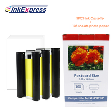 цена на InkExpress Ink Cassette Photo Paper Set Compatible for Canon Selphy CP900 CP910 CP1200 CP1300 Photo Printer KP-36IN KP-108IN