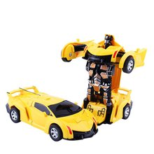 Deformation Car Toy Child Boy Impact Robot Inertia Children Gift Simulated Rubber Tire