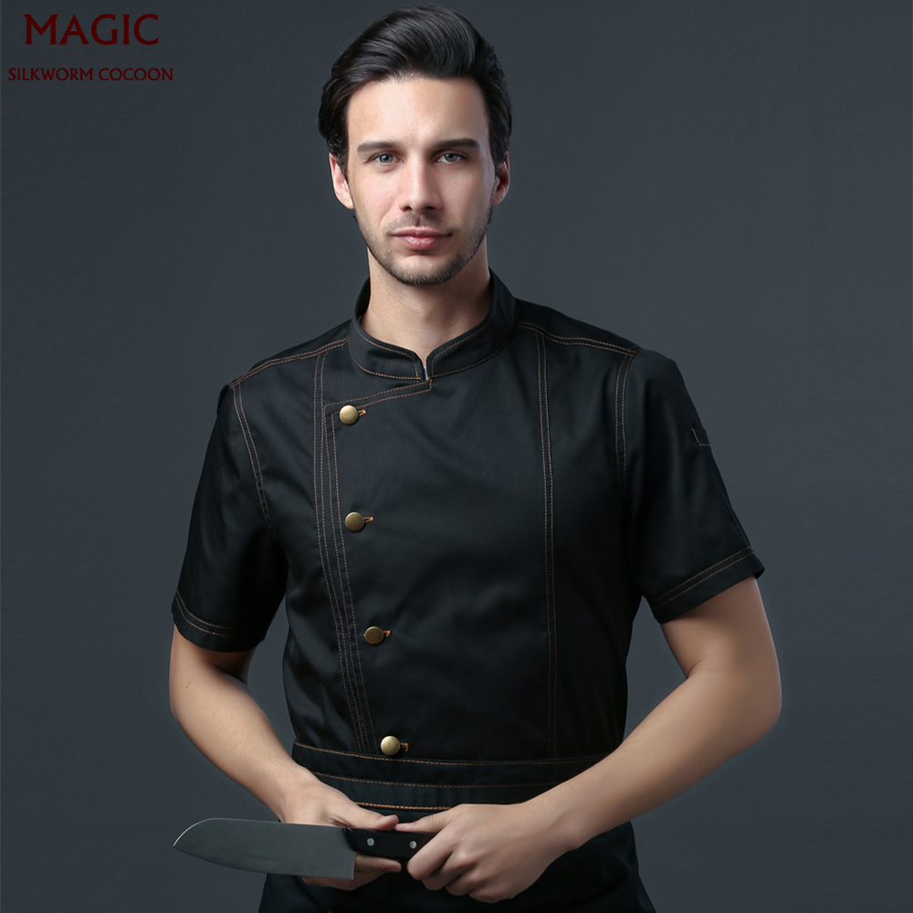Hotel Uniform Unisex Chef Restaurant Uniform Bakery Cafe Cook Overalls Multiple Colour Shirt Short/long Sleeve Chef Work Jacket