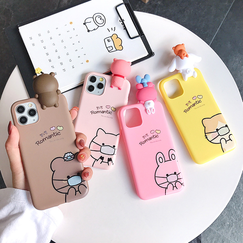 3D Cartoon Silicone Phone Case For Samsung Galaxy S20 Ultra A7 A8 Plus A9 2018 Note 10 8 9 S7 S8 S9 S10 5G S10E J4 J6 A6 Cover image