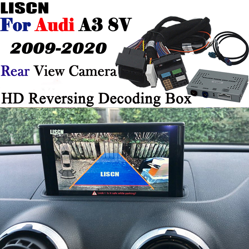 Reversing Camera For Audi A3 8v S3 8p MMI3G 2009~2020 backup camera Interface Adapter Front Rear Camera Display Improve Decoder