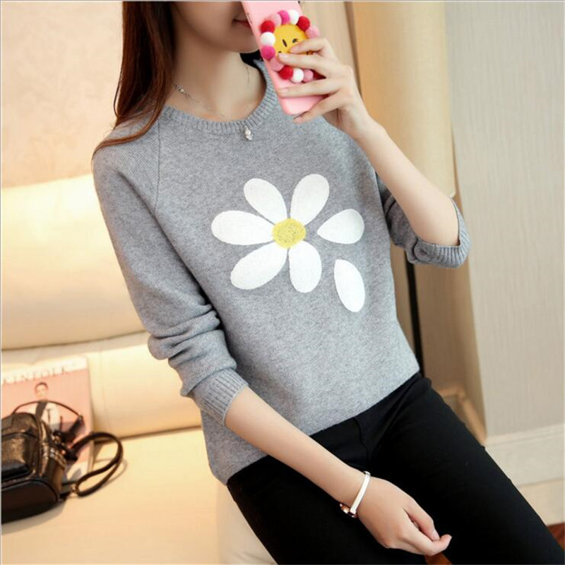 2016 Hot Autumn And Winter Style Pullover Long Sleeve Knit Sweater Women