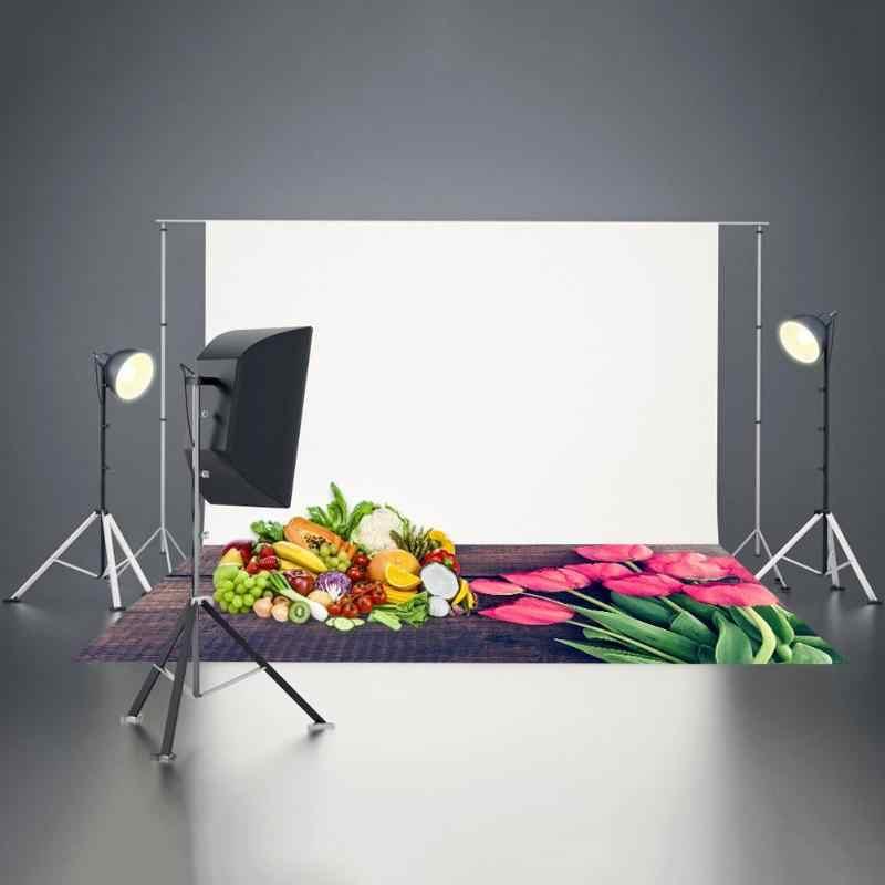 Rétro bois conseil tulipe photographie fond tissu toile de fond tissu téléphone accessoires photographiques pour la décoration alimentaire