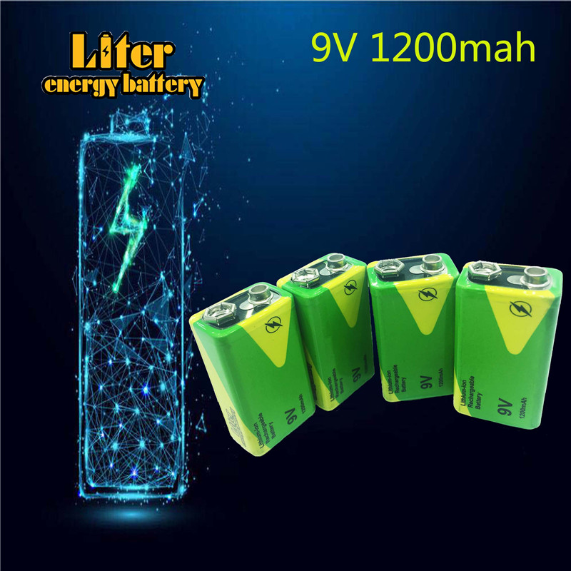 Low price high quality <font><b>9V</b></font> <font><b>1200mAh</b></font> rechargeable battery for instruments lithium battery packs For Toys Smoke lithium ion battery image