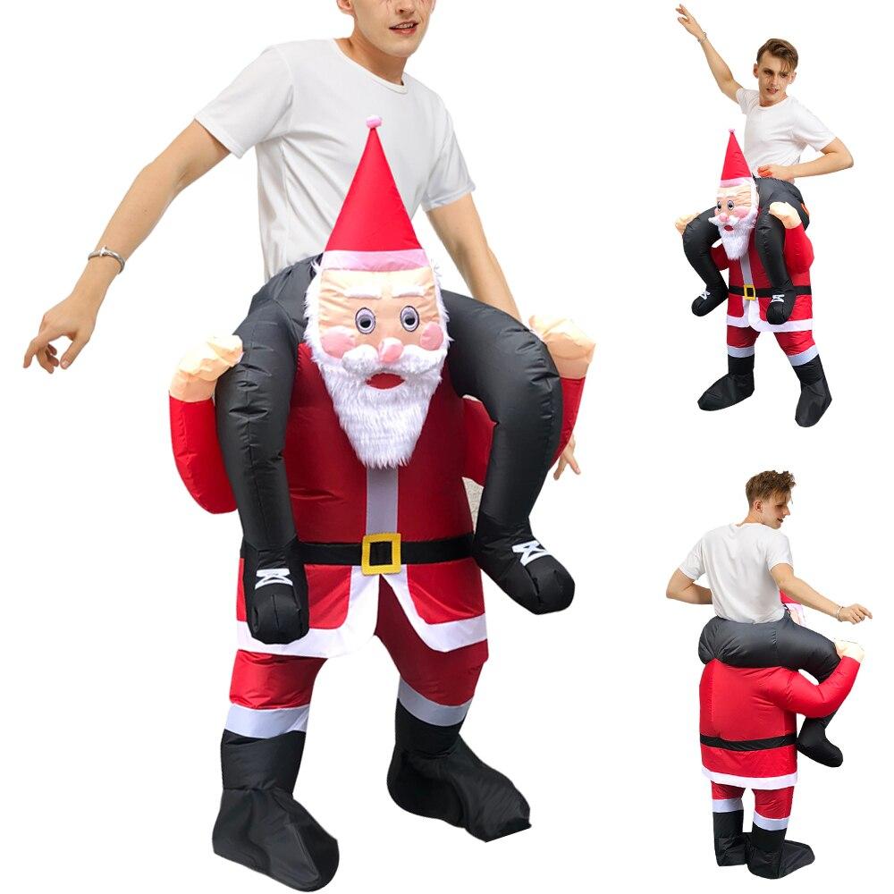 Рождественский подарок, костюм Санта Клауса, костюм для взрослых на Хэллоуин вечерние надувные костюмы талисманы, Необычные ролевые игры, костюм для мужчин и женщин|Костюмы из фильмов и ТВ| | АлиЭкспресс