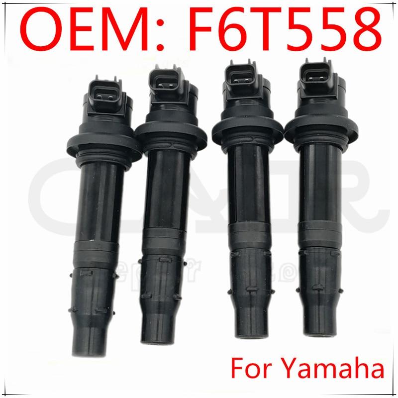 Juego de 4 Uds.-nuevo paquete de bobinas de encendido F6T558 aptas para Yamaha MT-07 14-17 R6 RJ15 Bj YZF-R1 FZ8 F6T560