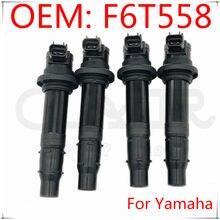 Conjunto de 4 UDS-Nuevo de encendido bobinas paquete F6T558 apto para Yamaha MT-07 14-17 R6 RJ15 Bj YZF-R1 FZ8 F6T560