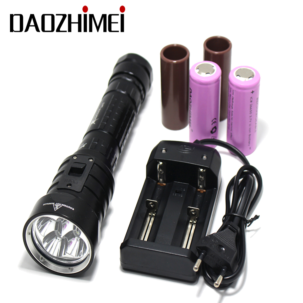 DX4S (upgraded from DX4) XM L U2 3200LM LED Diving Flashlight Torch Brightness Waterproof 100m White Light Led Torch|led torch|flashlight torch|diving flashlight torch - title=