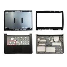 ل ديل انسبايرون 14 5000 5447 5445 5448 LCD الغطاء العلوي/LCD الجبهة الحافة/Palmrest العلوي لوحة اللمس/90% جديد الغطاء السفلي