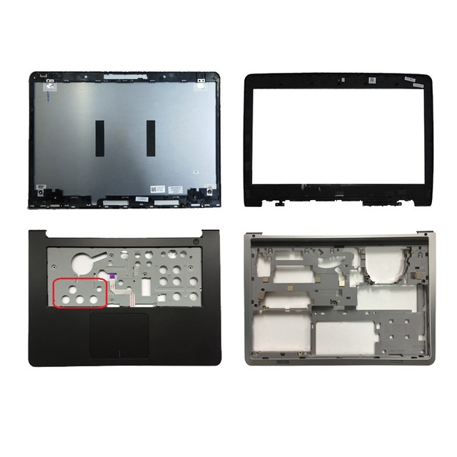 עבור Dell Inspiron 14 5000 5447 5445 5448 LCD למעלה כיסוי/LCD לוח קדמי/Palmrest עליון משטח מגע/90% תחתון חדש מקרה כיסוי