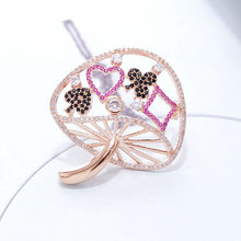 CINDY XIANG Cubic Zironia Mushroom Brooches For Women Copper Jewelry Shining Sparking Winter Brooch Fashion Accessories Gift(China)