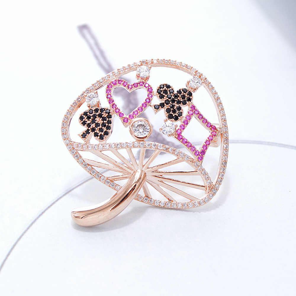 Cindy Xiang Cubic Zironia Paddestoel Broches Voor Vrouwen Koperen Sieraden Shining Vonken Winter Broche Mode Accessoires Cadeau
