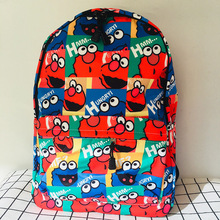 IVYYE Sale New Sesame Street Backpacks Rucksacks Cartoon Backpack Casual student Bags travel Knapsack Unisex New