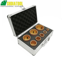 SHDIATOOL 8pcs/pk 20/25/32/35/40/50/60/68 millimetri di Vuoto Brasato Diamante Punta Del Trapano M14 di PERFORAZIONE Core Bit Marmo Ceramica Foro Seghe Corona