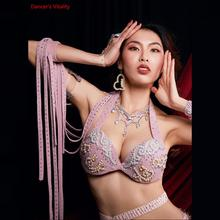 Corsets Costumes Belly-Dance-Bra Bras Practice-Clothing Performance Diamonds Customizable