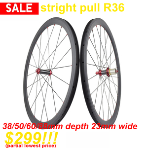 Straight pull R36 hub Road Bike carbon wheels 24/30/35/38/45/50/60/75/82/88mm clincher carbon wheels tubular carbon wheels(China)