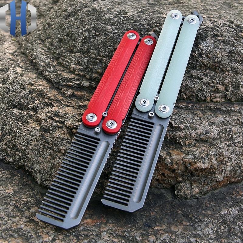 Hellcat Titanium Comb EDC Comb Shaking Comb Tools