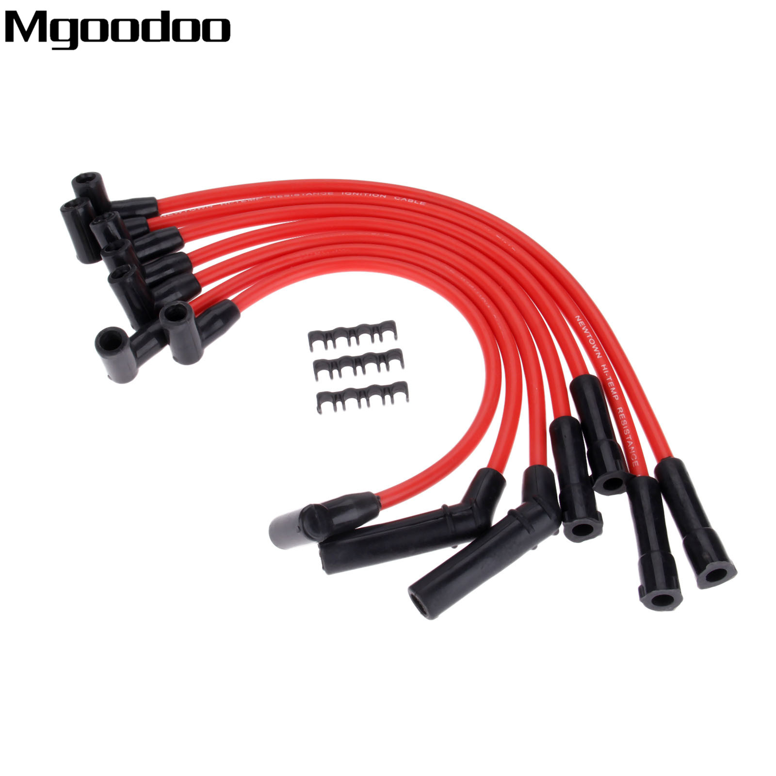 7Pcs Ignition Cable Spark Plug Wire 8.5mm Clips Fittment For Jeep Grand Cherokee Wagoneer Cherokee Briarwood Wrangler Comanche