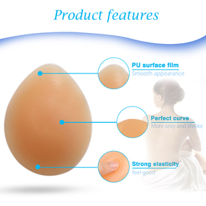 Image 5 - ONEFENG CT Hot Selling Silicone Fake Breasts Teardrop Shaped Soft Pads Full Ladies False Boobs 170 300g/Pair