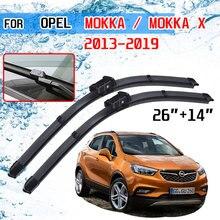 สำหรับOpel Mokka 2013 2014 2015 2016 2017 2018 2019อุปกรณ์เสริมด้านหน้ากระจกหน้ารถใบปัดน้ำฝนกระจกแปรงตัด