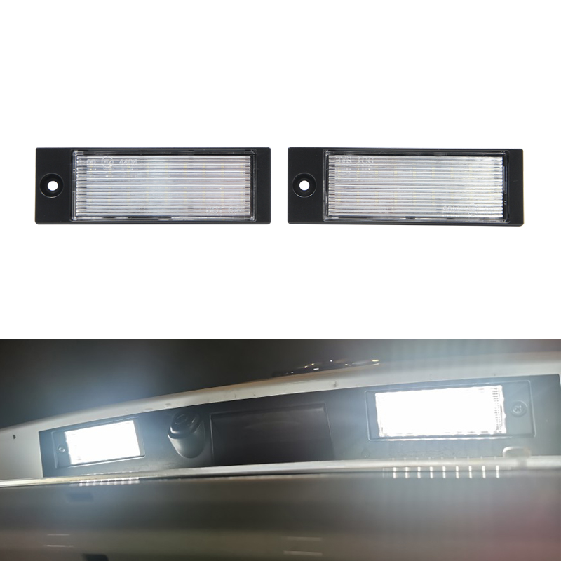 2PCs Fits For Hyundai Tucson 2015 2016 2017 2018 White Super Brilliant Led Rear Number License Plate Lights Lamp