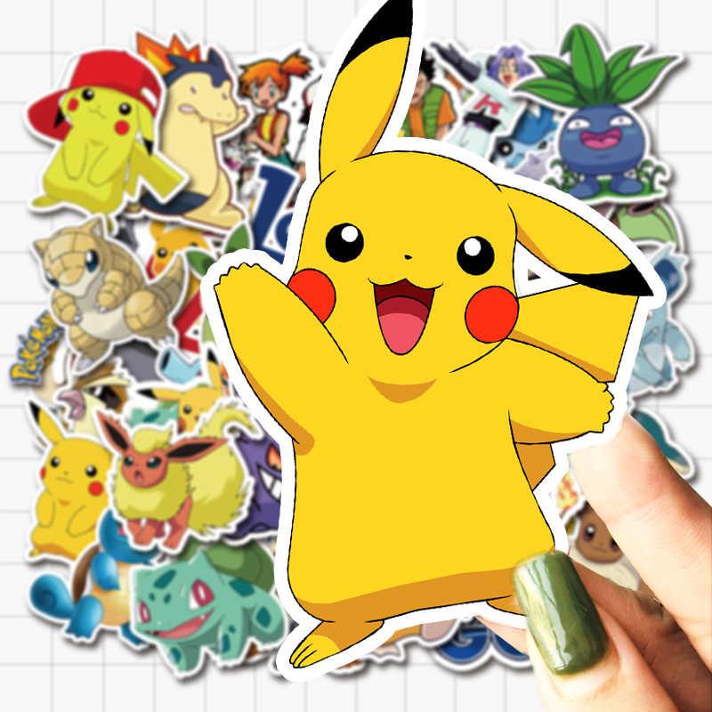 VANMAXX 50 PCS Pokemon Pikachu การ์ตูนสติกเกอร์กันน้ำไวนิล Decal สำหรับแล็ปท็อปหมวกกันน็อกจักรยานกระเป๋าเดินทางกีตาร์สติกเกอร์รถ