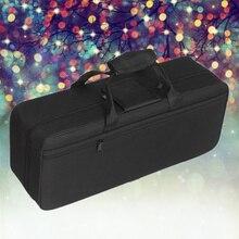 Oxford Cloth Trumpet Gig Bag Case Waterproof Trumpet Backpack for Trumpet Player with Adjustable Shoulder Straps (Black)