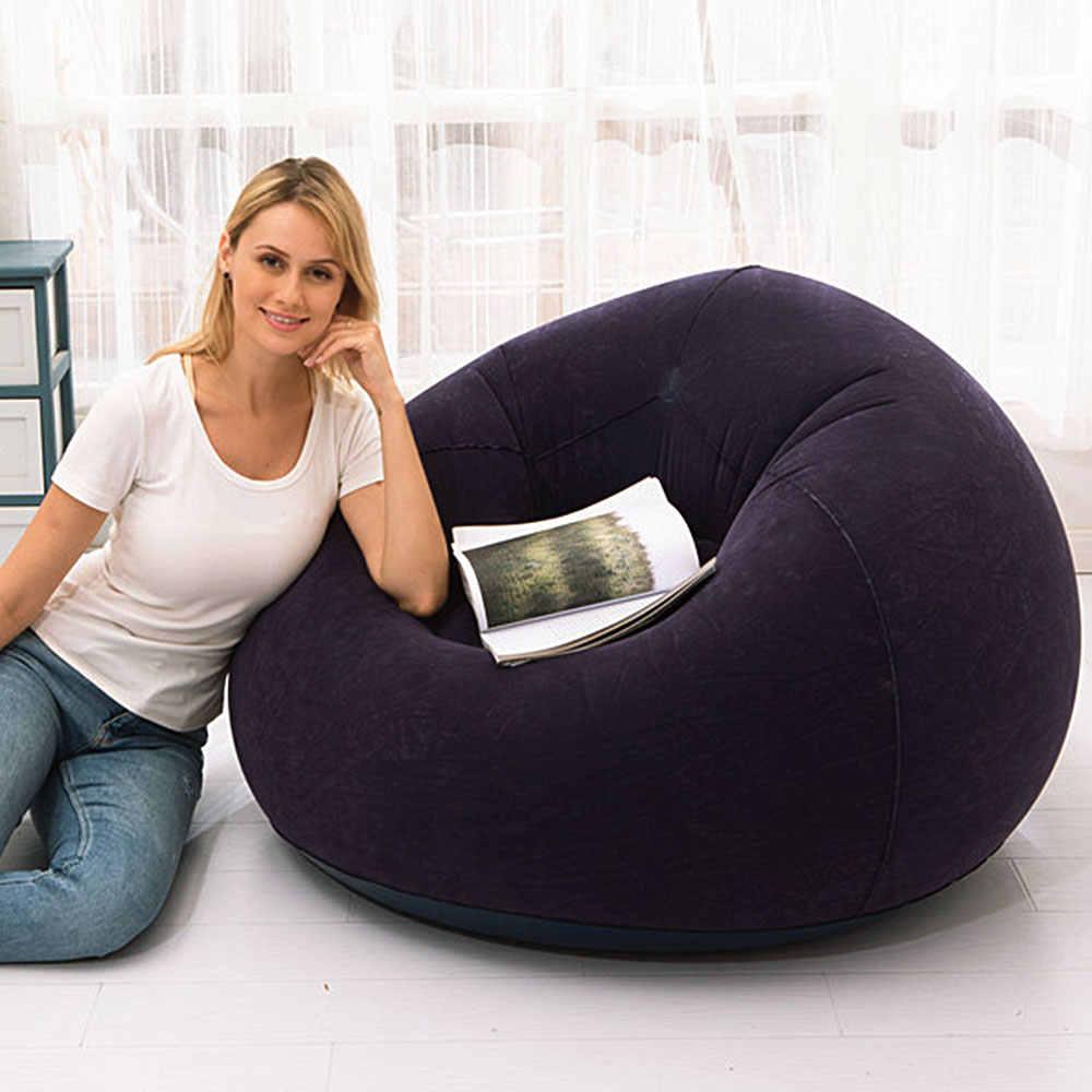 Gran sofá inflable perezoso sillas de PVC tumbona asiento bolsa de frijoles sofás Puff sofá Tatami sala de estar