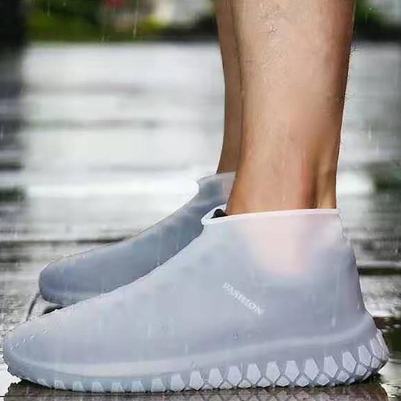 Overschoenen Reusable Shoe Covers Dustproof Rain Cover Winter Step In Shoe Waterproof Silicone Shoe Covers