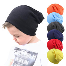 New Baby Street Hip Hop Hat Boys Girls Spring Autumn Knitted Cap Kids Winter Warm Kids Solid Color Beanie Hat Children's hats(China)