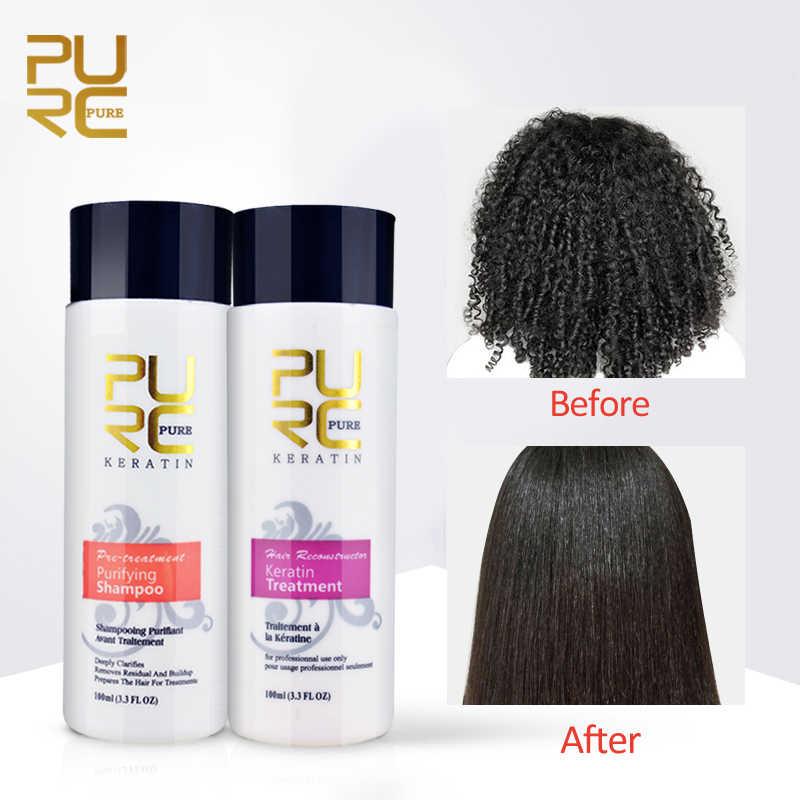 Keratin Treatment At Home 100ml 12 Formalin Keratin 100ml Purifying Shampoo Straighten Repair Damaged Hair Treatment Damaged Hair Keratin Treatmentpurifying Shampoo Aliexpress