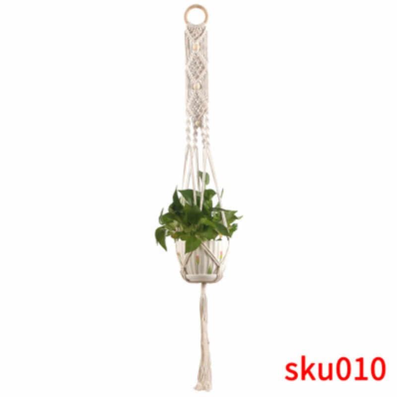 Vendas quentes 100% artesanal macrame planta cabide titular flor/pote cabide para decoração de parede countyard jardim