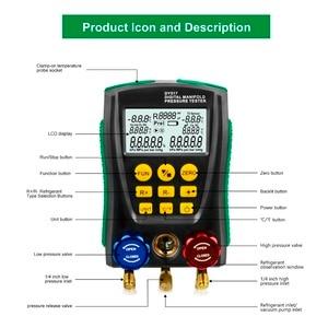 Image 5 - DY517A Refrigerat Digitale Manifold Gauge Meter Kältemittel HVAC Vakuum Doppel Druck Leck Temperatur Tester Kalten Lagerung