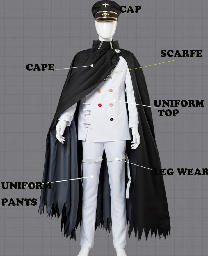 New Danganronpa V3 Ouma Kokichi Uniform Cloak Hat Shoes Cosplay Costume Wig