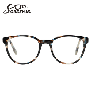 Image 3 - Glasses Round Acetate Glasses Myopia Eyeglasses Women Frame Clear Lens Frame Optical Demi Glasses Frames Women Circle Eyewear