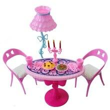 BESTIM INCUK 1 Set sillas de mesa Vintage para muñecas muebles juegos de comedor juguetes para niña chico para rosa