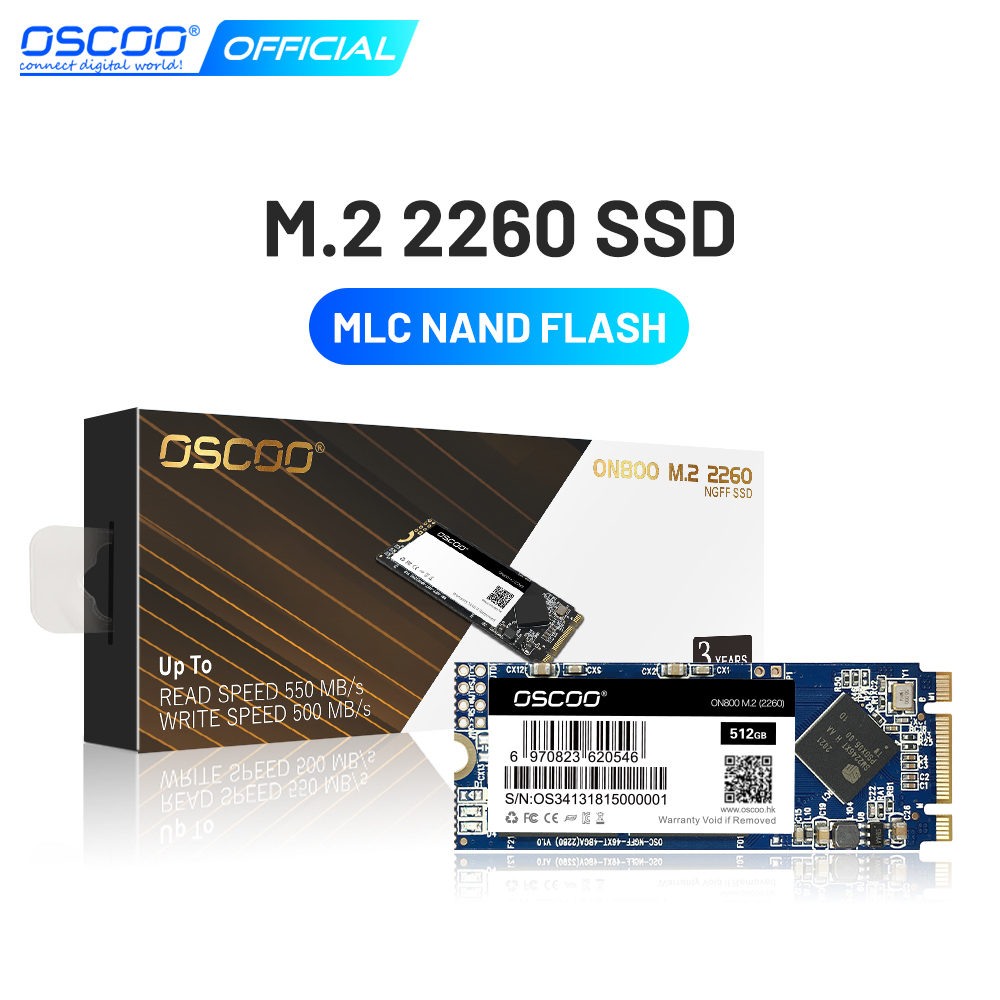 OSCOO SSD M2 2260 оригинальный 2D MLC M.2 hd ssd 64 Гб 128 ГБ 256 ГБ 512 Гб жесткий диск для ноутбука
