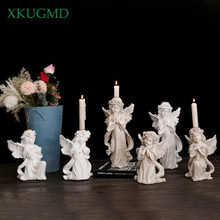 Nordic Creative Resin Cupid Cute Angel Candle Holder Sculpture Decoration Living Room TV Cabinet Home Decorat Ornaments