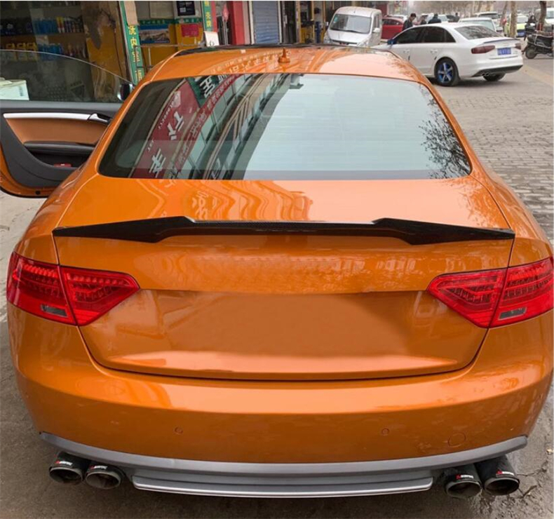 Carbon Fiber Spoiler For AUDI A5 S5 RS5 B8 2008 2009 2010 2011 Sportback Coupe Wing Lip Spoilers High Quality M4 Car Accessories