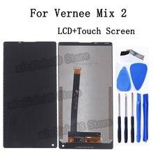 Original para vernee mix 2 display lcd tela de toque digitador assembléia para vernee mix 2 tela lcd kit reparo do painel toque
