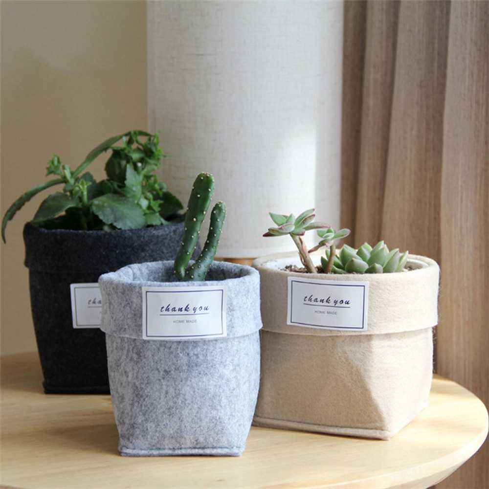 جديد رشاقته ورأى وعاء النبات ديكورات المنزل سطح المكتب سلة للزهور النبات تنمو حقيبة للزهور لوازم حديقة النباتات الخضراء
